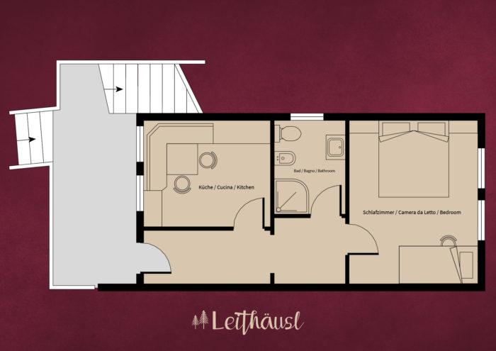 Leithäusl Plan Wohnung 1