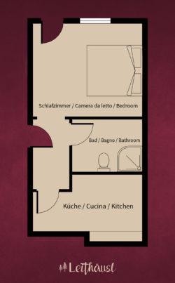 Leithäusl Plan Wohnung 2