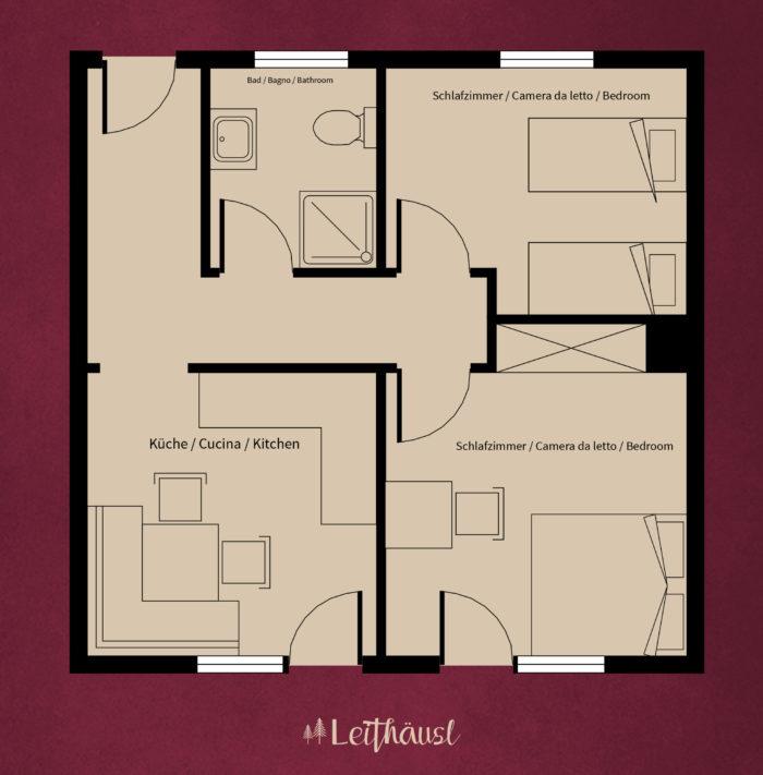 Leithäusl Grundriss Wohnung 4