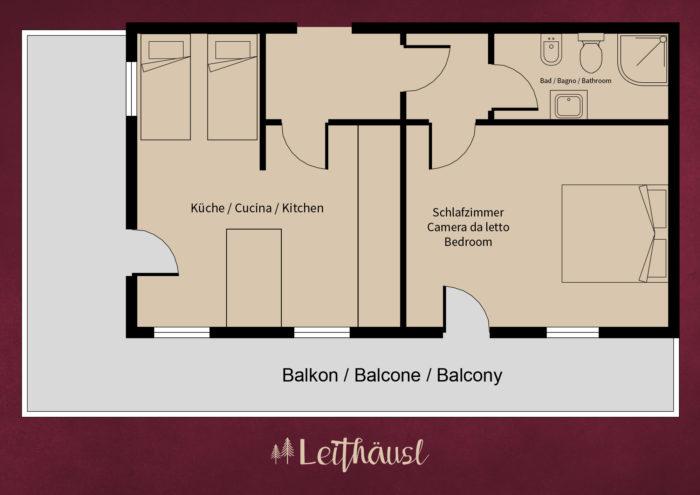 Leithäusl Wohnung 5 Plan